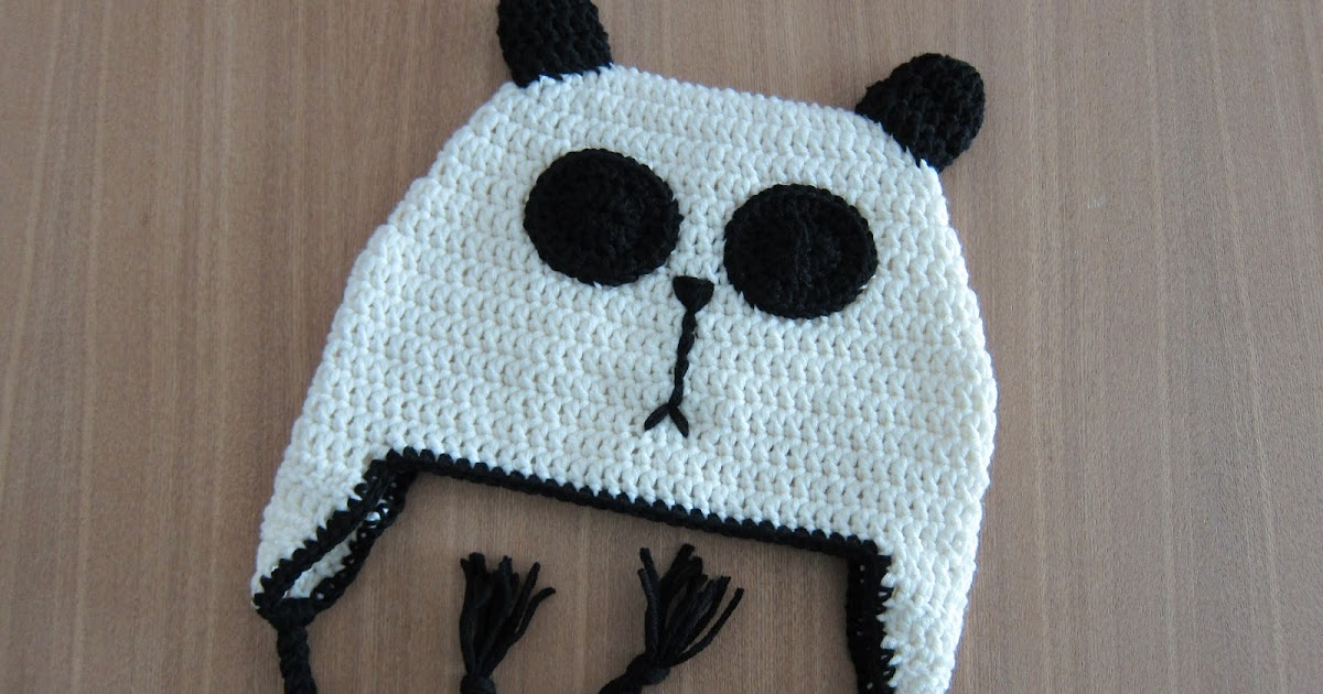 Crochet Panda A Panda Hat Pattern In Adult Size Follow Me And See
