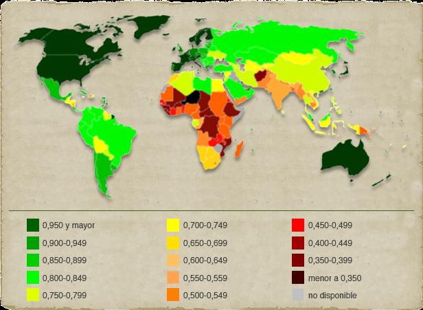 indice de pobreza mundial: