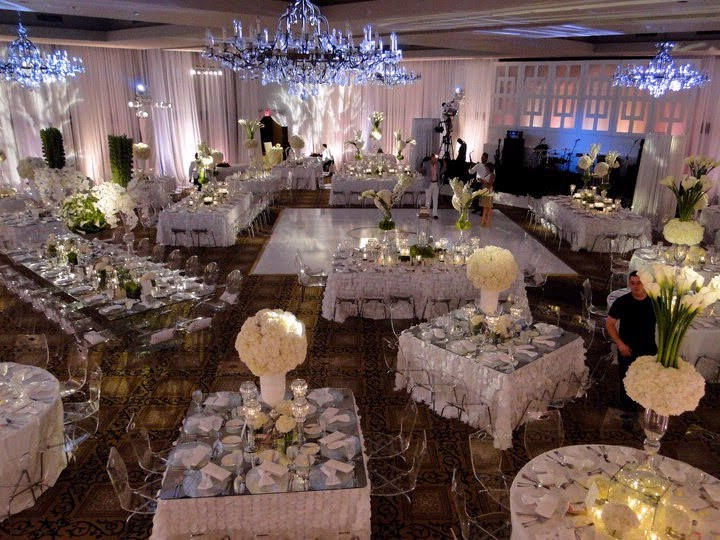 Round and Rectangle Wedding Reception Table Layout