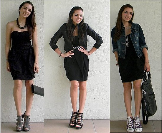 Look vestido negro informal