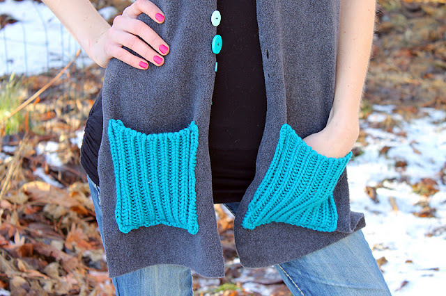 Fleece Pocket Scarf @ Dragonfly Designs