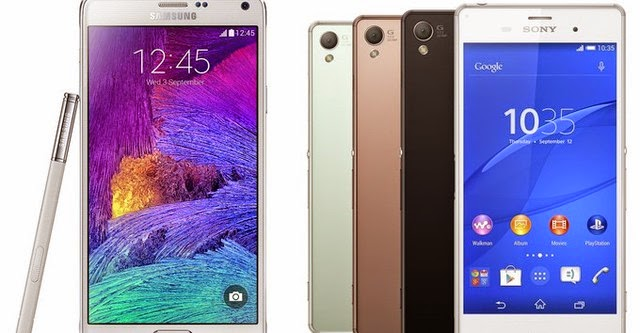 Galaxy Note 4 vs Sony Xperia Z3