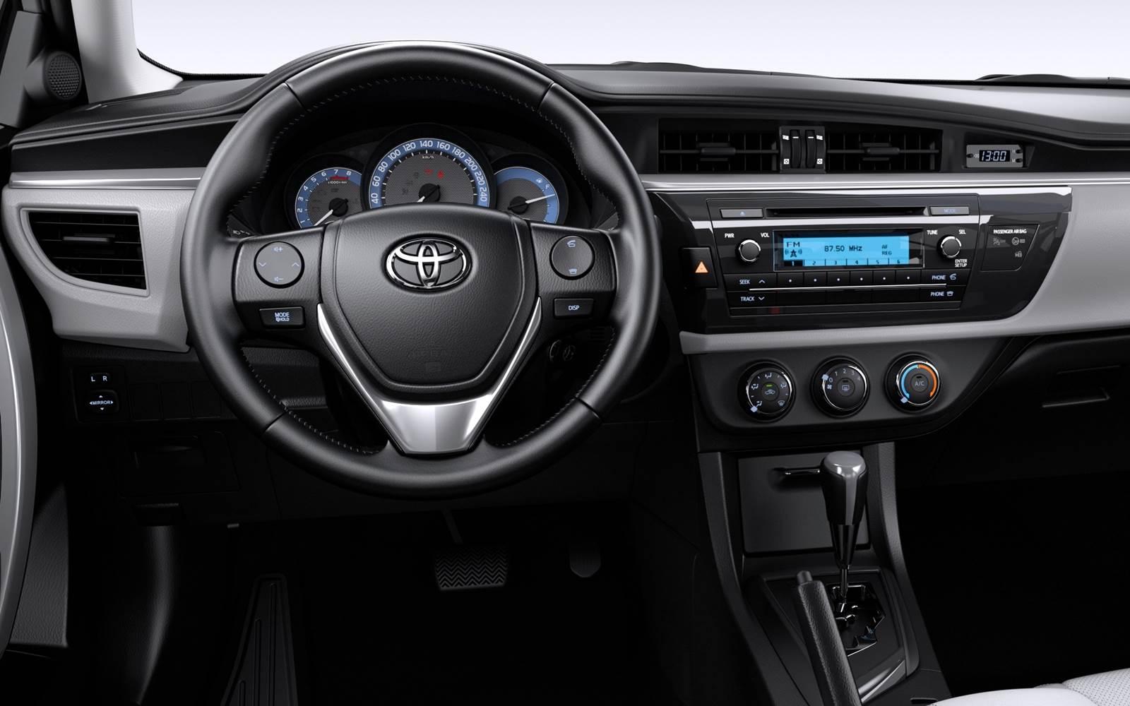Novo Toyota Corolla GLi 2016 Upper - painel