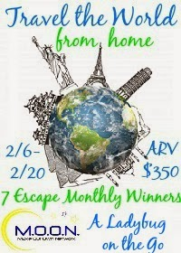 Enter the Travel the World from Home Giveaway. Ends 2/20.