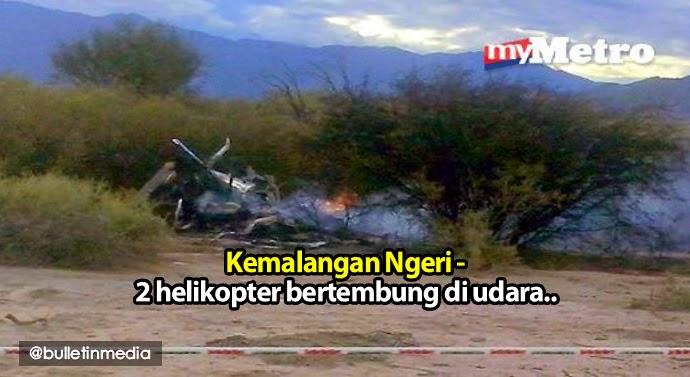 Kemalangan Ngeri dua helikopter yang terhempas selepas bertembung di udara