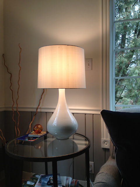 Crate and Barrel Kathryn lamp -- The Impatient Gardener