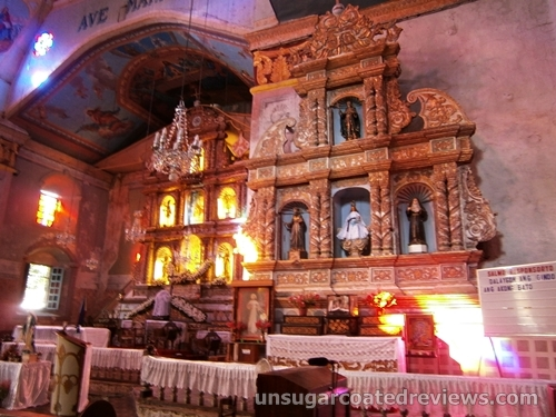 altar of Baclayon Church in Bohol, Philippines