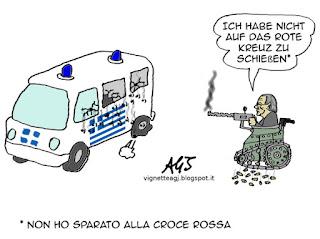 Crocerossa, Schauble, grecia, tsipras satira vignetta