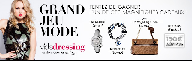 Un sac à main Lanvin + 1 montre Gucci + 1 bracelet Chanel + 10 bons d'achat de 15 € Videdressing