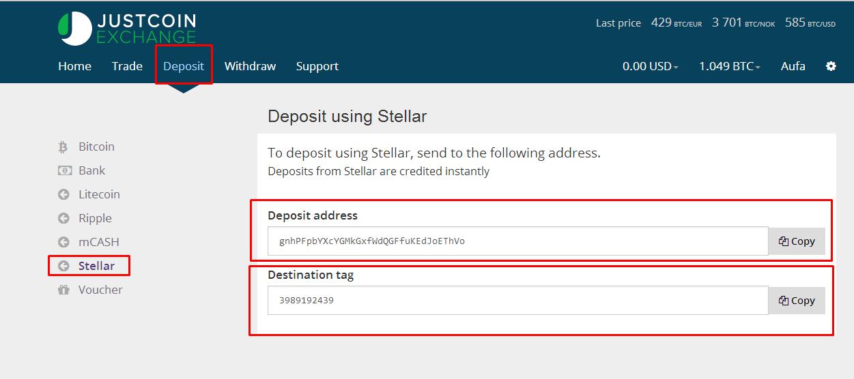 Cara Exchange Balance Stellar ke Bitcoin