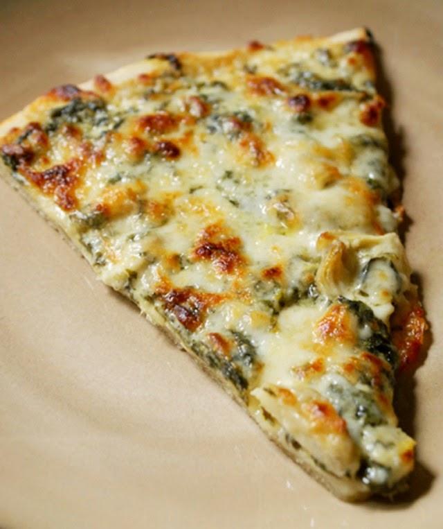 Spinach Artichoke Alfredo Pizza