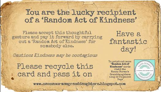 Random Acts Of Kindness Cards Templates Traffic Club