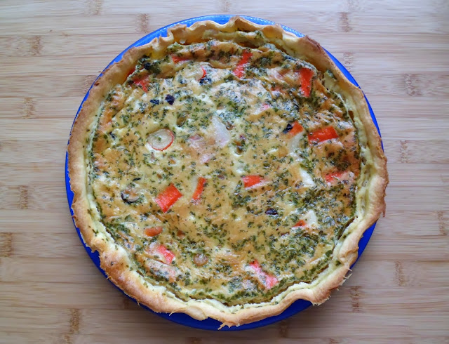 les crocs du loupinet quiche aux fruits de mer