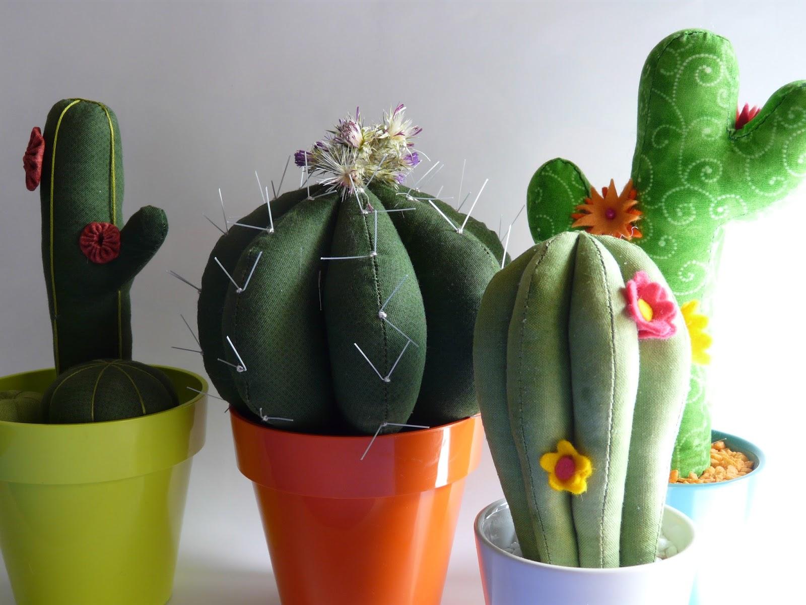 Mi hogar de patchwork cactus de tela 1 cactus fabric - Composiciones de cactus ...