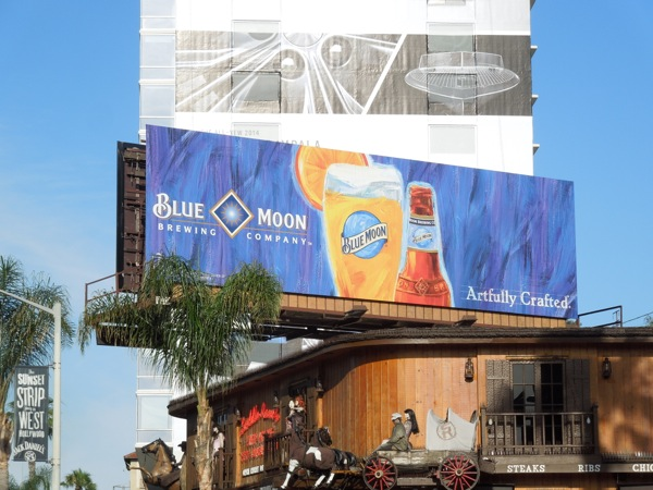 Blue Moon beer billboard