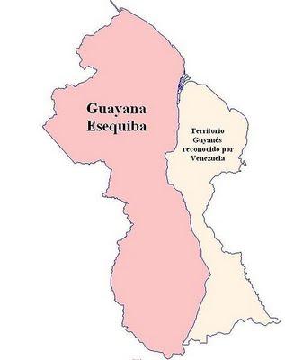 Mapa de Guayana Esequiba