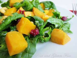 Winter Salad w/ Local Spinach & Sweet Potatoes