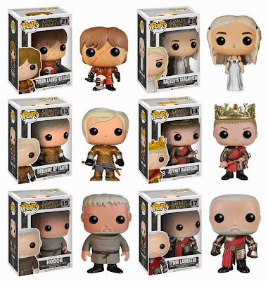 Game of Thrones Pop! Series 3 Vinyl Figures by Funko - Battle Armor Tyrion Lannister, White Dress Daenerys Targaryen, Brienne of Tarth, King Joffrey Baratheon, Hodor & Tywin Lannister