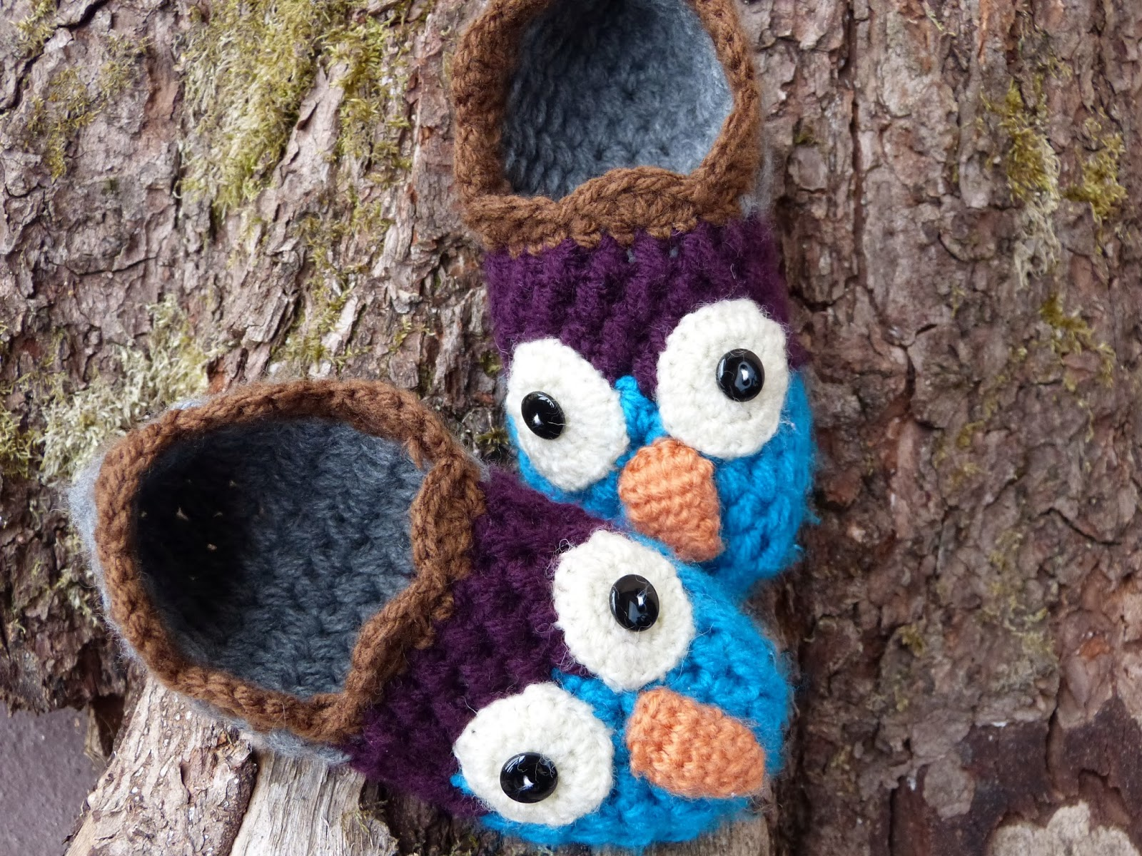 crochet, szydełkowe kapcie, crochet shoes, crochet house shoes, crochet girl slippers, crochet owl,