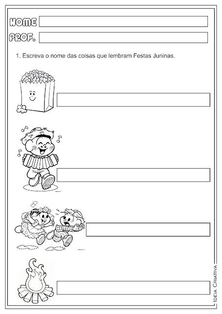 Auto Ditado Festas Juninas Atividade Ensino Fundamental