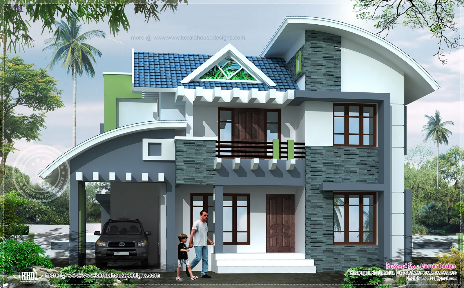 Modern house elevation in 2369 square feet - Kerala home design and ...