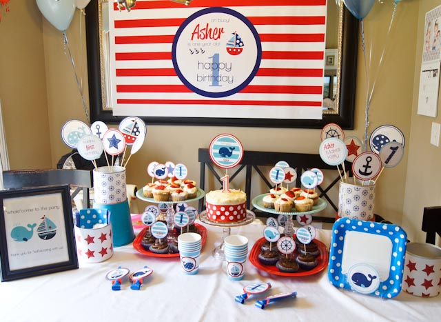 ... Simple, Sister}: Oh buoy, hes one! {whales and sails birthday party