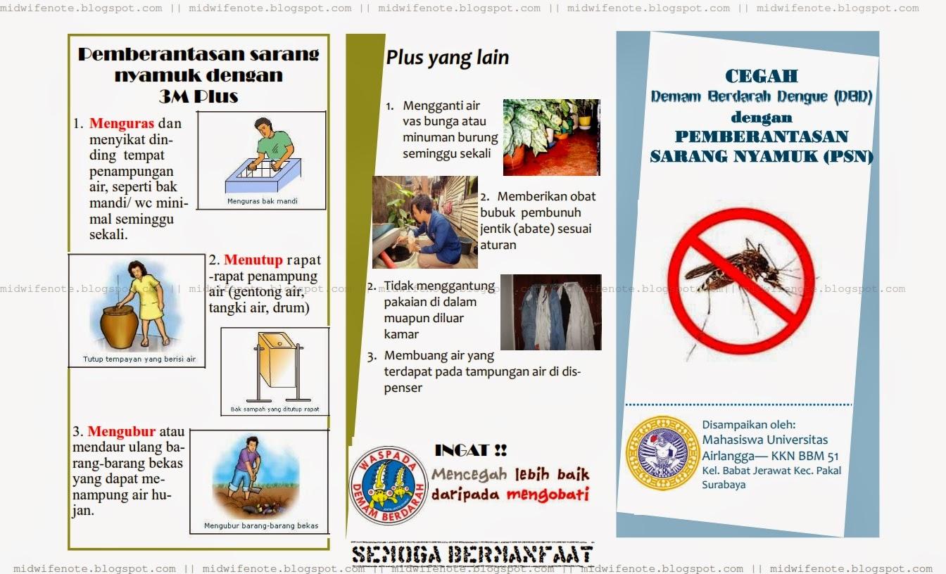 Kumpulan Materi Kebidanan Leaflet Demam Berdarah Dengue Dbd Dan Pencegahannya