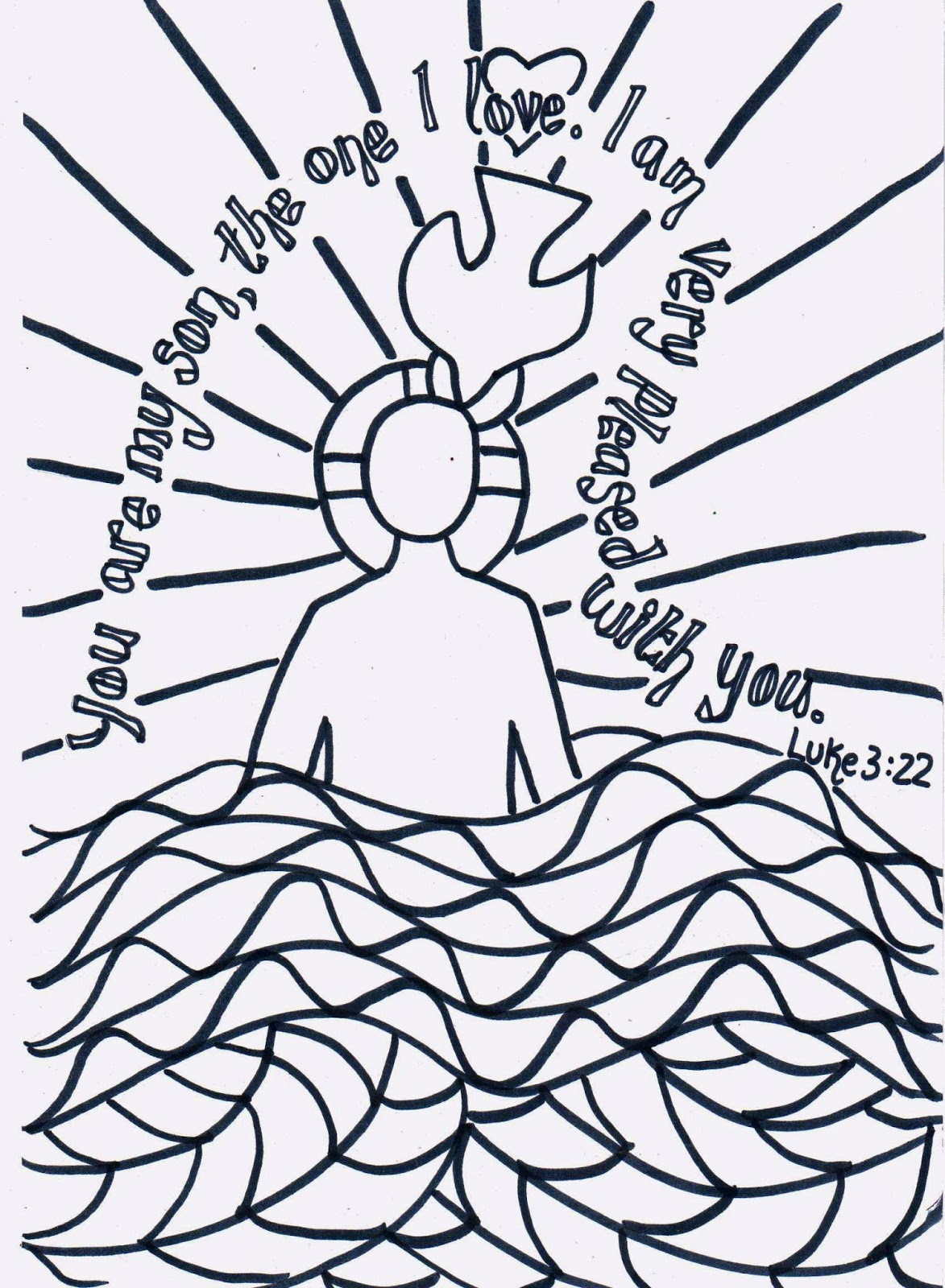 baptism coloring pages for children - photo#25