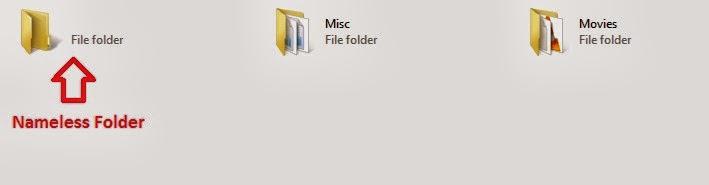 how to create nameless folders