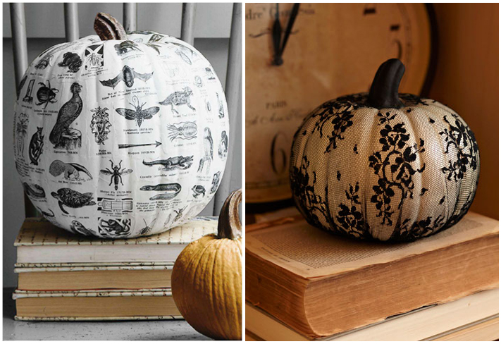 well why not decorate your pumpkins without carving them here are a few great ways