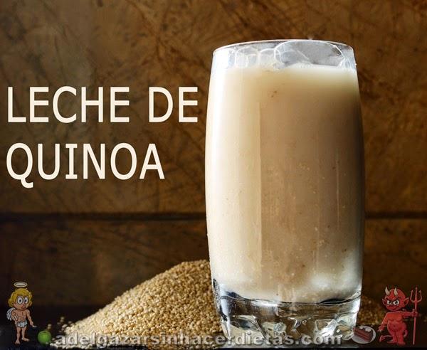 Receta saludable y fácil de Leche de quinoa o quinua baja en calorías, apta para diabéticos, baja en colesterol, apta para veganos, celíacos e intolerantes a la lactosa.