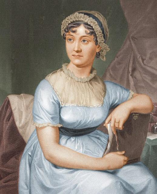Jane Austen et la fille se masturber