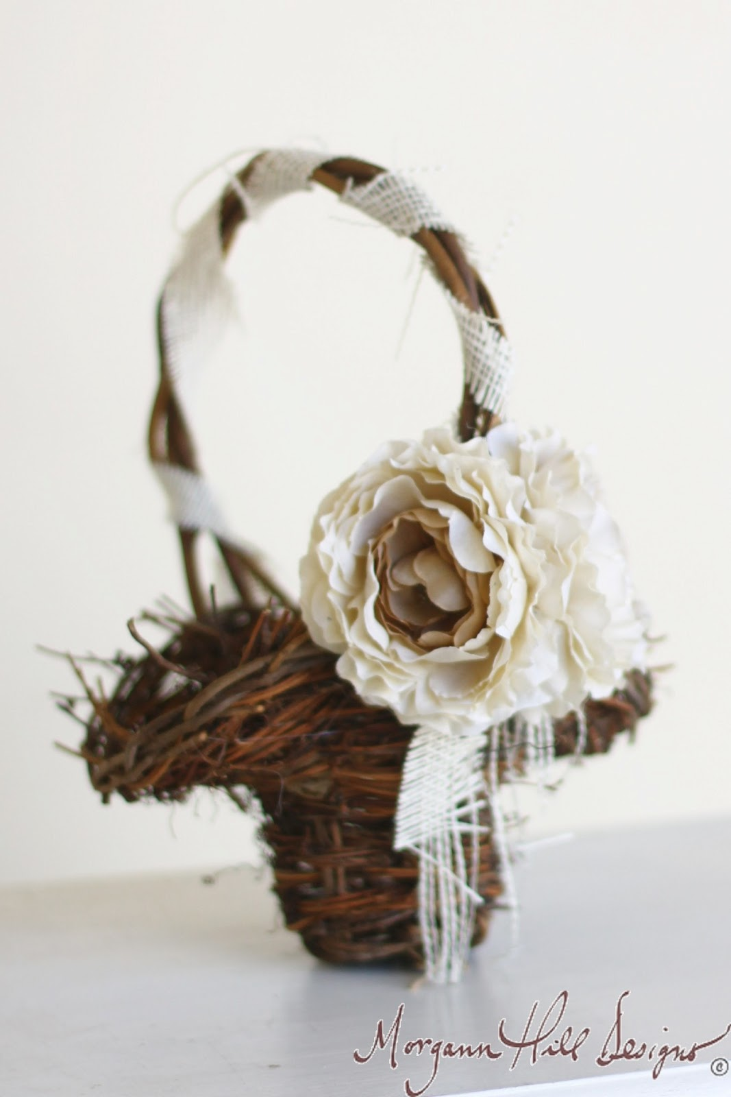 Morgann Hill Designs: Rustic Flower Girl Basket For Shabby Chic ...