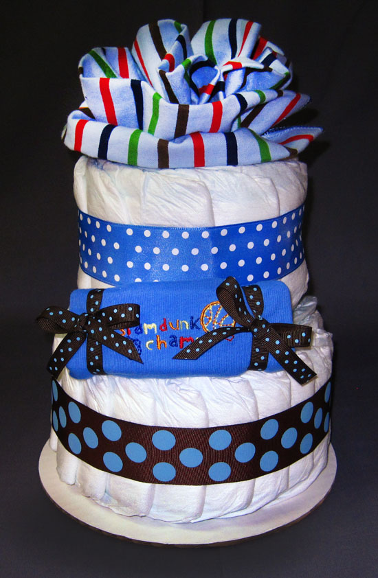Slam Dunk Champ Small 2 Tier SGD Diaper Cake