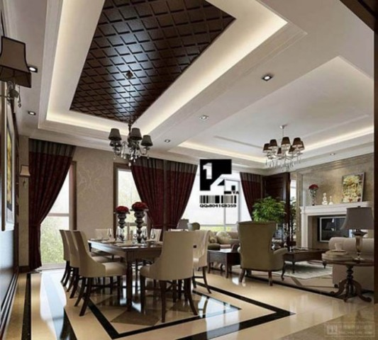 interior design Beautiful Modern Classic Interior Diningroom