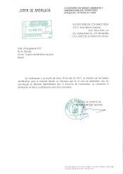 Respuesta de la Administración sobre la distribución de acreditaciones al personal de la Consejería