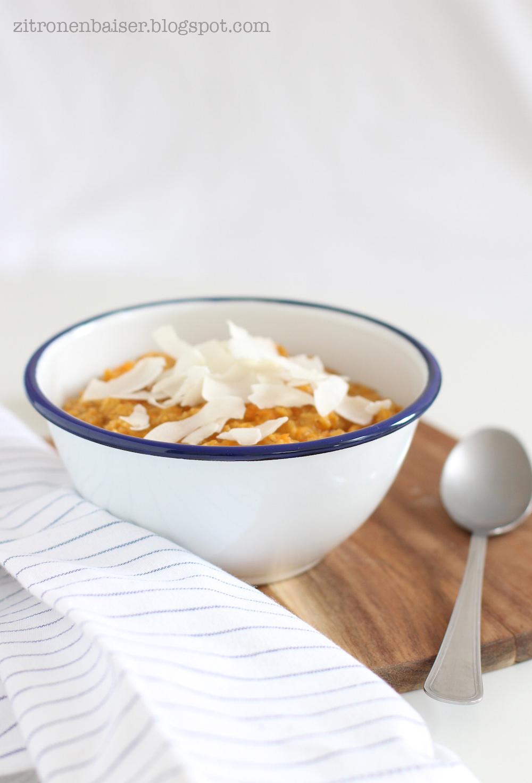Rezept Porridge mit Möhren und Kokos Zitronenbaiser Foodblog