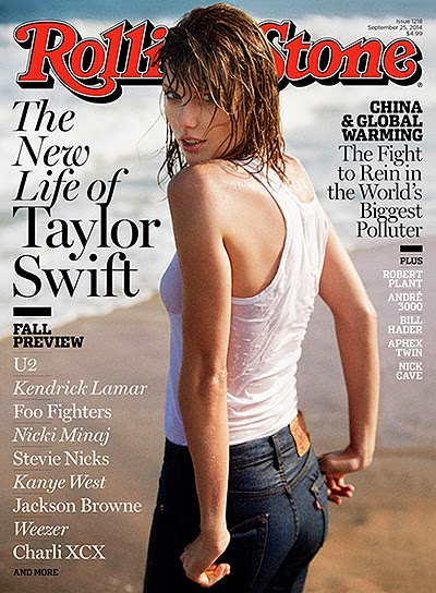 Taylor Swift on the cover of Rolling Stone magazine