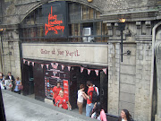 Then we saw Heather Burrell's wonderful leafy cyclist as we skirted the . (the london dungeon)