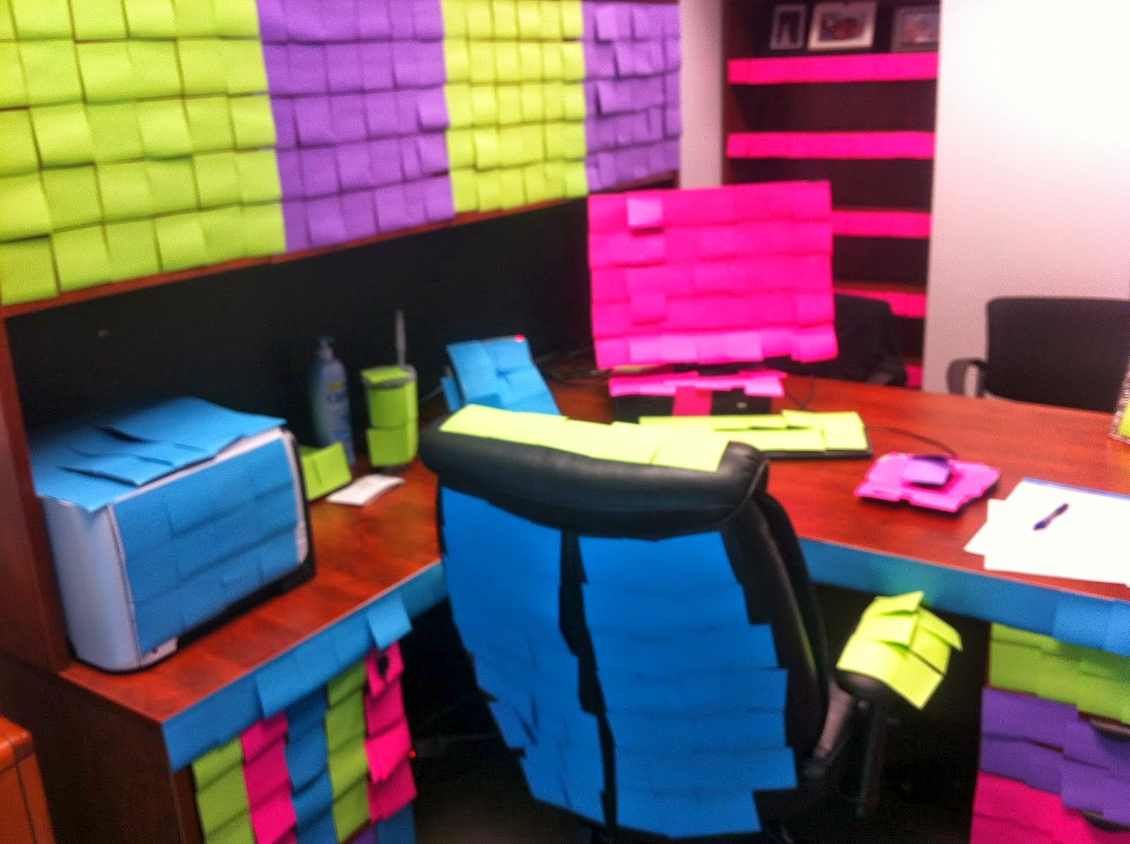 Office Post It Notes Prank