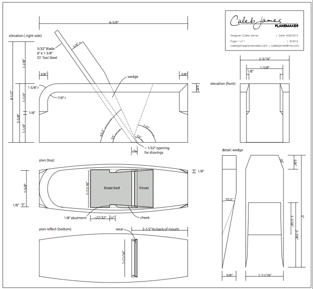 wooden bench plane plans