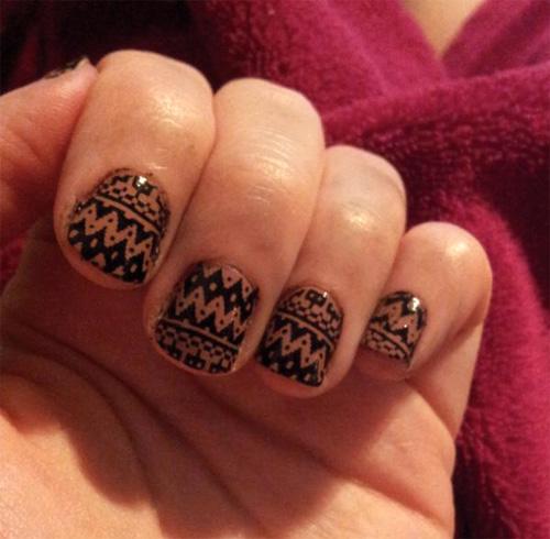 Custom Tatoo Cute Tribal Nail Designs