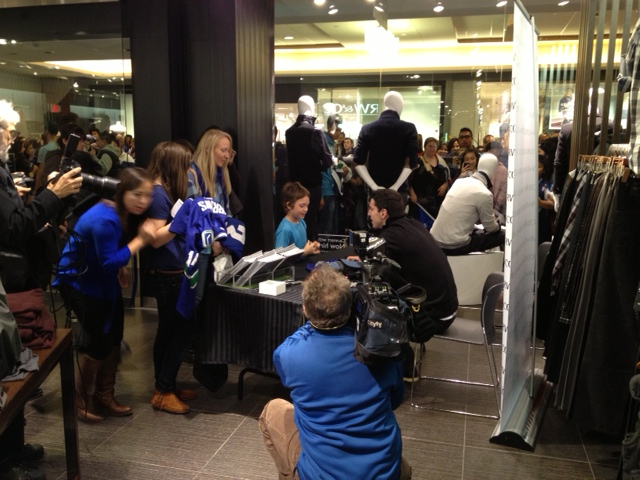 RW&CO Pacific Centre and Alex Burrows NHL lock out shopping event, Vancouver, Fashion, Events, Canucks