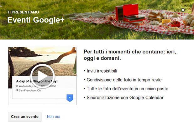 evento google plus guida