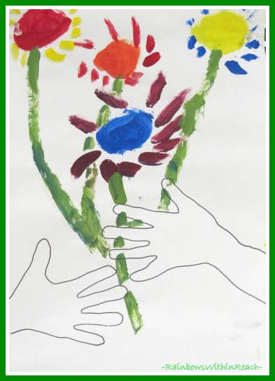 Kindergarten Picasso Expression for Spring via RainbowsWithinReach