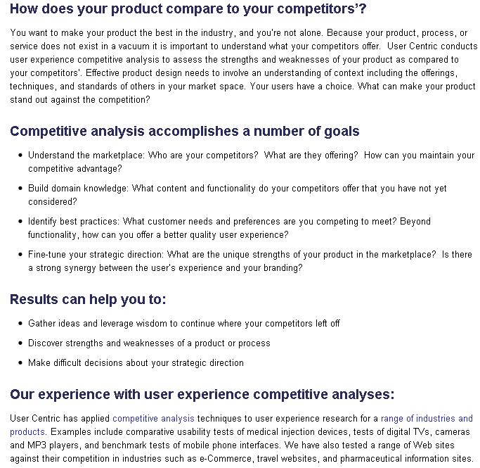 Competitors Mobile Application Analysis and Testing