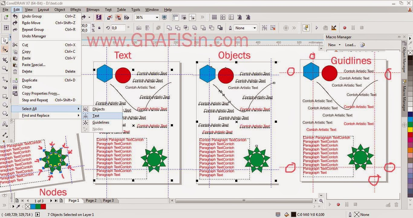 Fungsi Select All CorelDraw