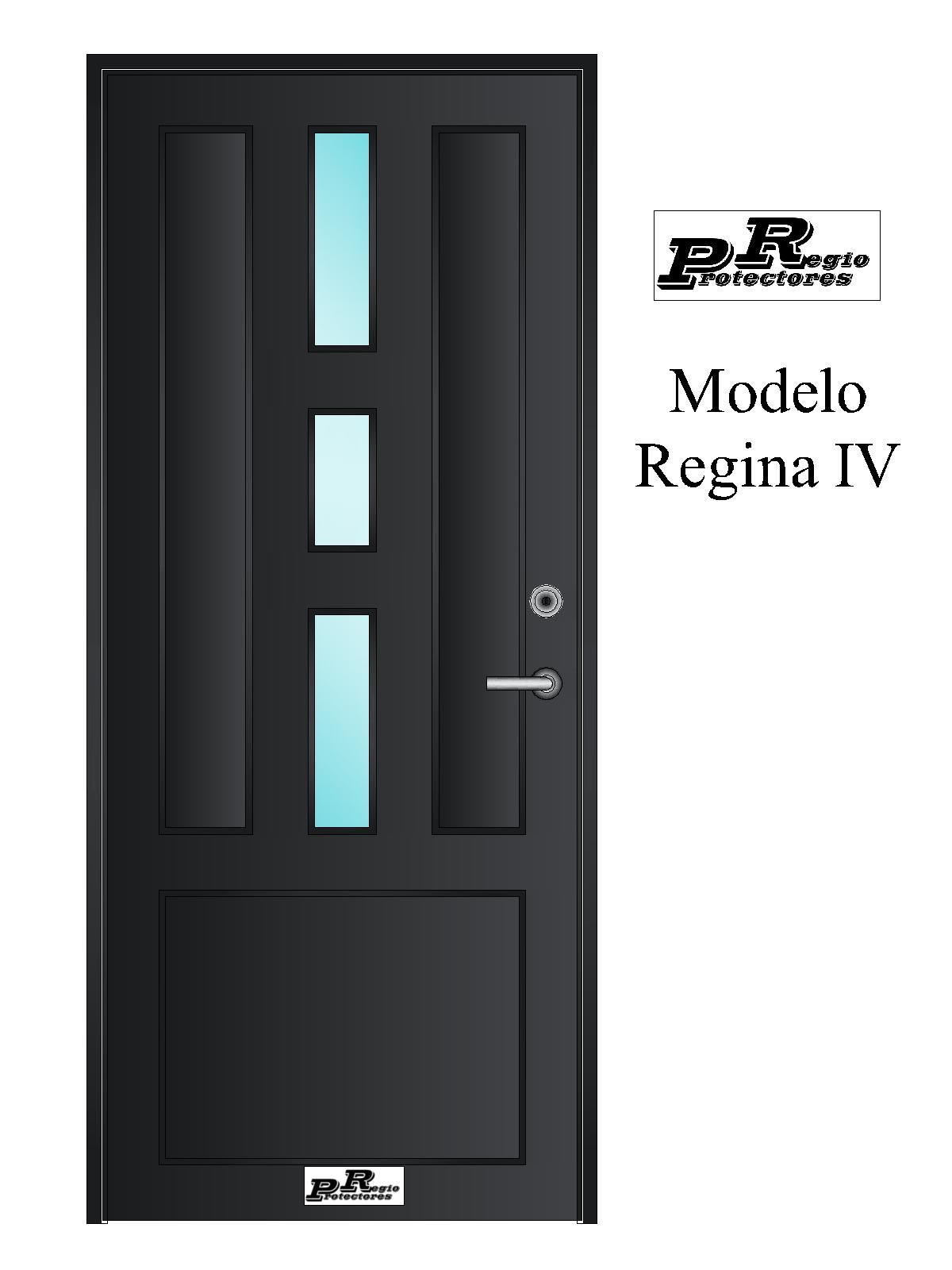 Regio protectores puerta principal de hierro modelo for Modelos de puertas principales
