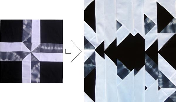 black & white patchwork, modern patchwork, patchwork