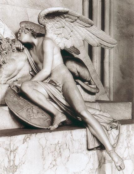 Antonio Canova   1757 - 1822  Antonio+Canova+-+Monumento+a+Maria+Cristina+d+Austria+%2528particolare%2529+genio+alato+